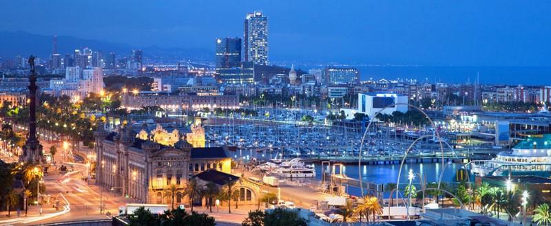Barcelona's night sky