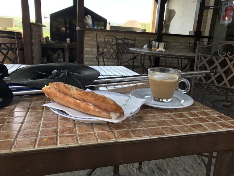Café, e pão com Presunto Ibérico! (Delícia)